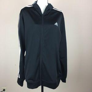 ADIDAS | full zip track jacket three stripes L